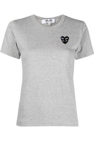 Comme des Garçons Naiset T-paidat - Logo-embroidered short-sleeved t-shirt