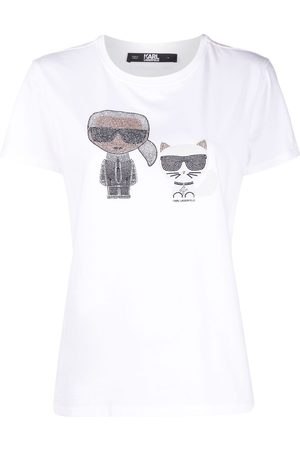 Karl Lagerfeld Crystal-embellished Karl T-shirt