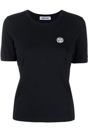 AMBUSH Naiset T-paidat - Logo-embroidered T-shirt