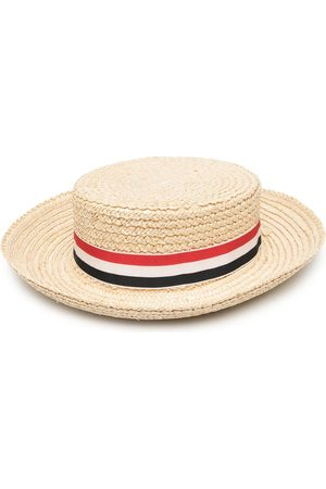 Thom Browne Braided boater hat