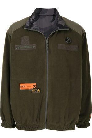 AAPE BY A BATHING APE Miehet Fleecetakit - Shell-panelled fleece jacket