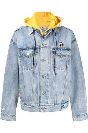 AAPE BY A BATHING APE Miehet Farkkutakit - Hood-layer denim jacket