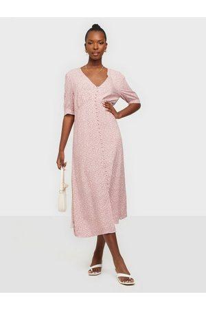 ONLY Naiset Printtimekot - Onldaisy Life Ss Print Dnm Dress B Dusty Rose White Flowers