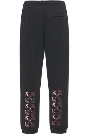 OFF-WHITE Miehet Collegehousut - Spray Caravaggio Slim Jersey Sweatpants