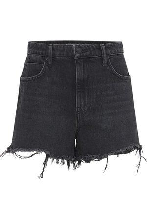ALEXANDER WANG Naiset Farkkushortsit - Cotton Denim Shorts W/ Raw Cut Hem