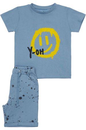 YELLOWSUB Pojat T-paidat - Printed Cotton T-shirt & Sweat Shorts