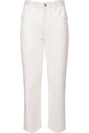 Stella McCartney Naiset Suorat - Organic Cotton Denim Straight Leg Jeans