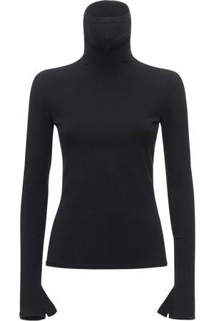 Balenciaga Jersey Knit Mask Turtleneck Sweater