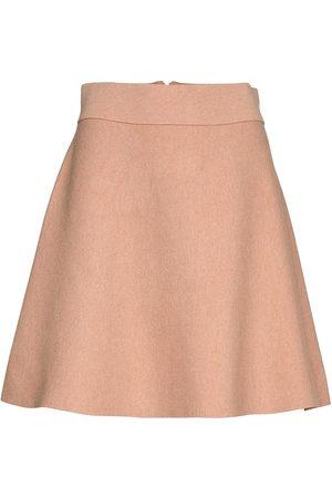 Morris Lady Naiset Minihameet - Pauline Knit Skirt Lyhyt Hame Sininen