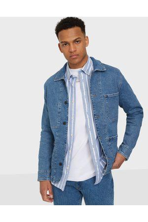 Selected Miehet Farkkutakit - Slhjackson 8022 M.Blue Denim Jacket Takit Medium Blue Denim
