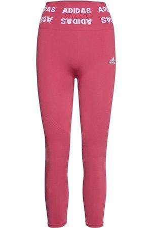 adidas Training Aeroknit 7/8 High-Rise Tights W Running/training Tights Vaaleanpunainen