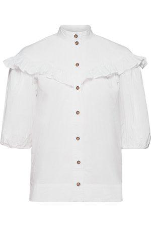 Ganni Frill Shirt Lyhythihainen Paita