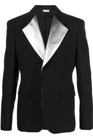 Comme des Garçons Single-breasted metallic lapel blazer