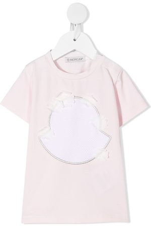 Moncler T-paidat - Embroidered stretch-cotton T-Shirt