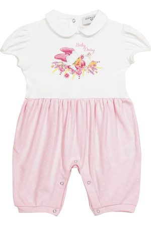 MONNALISA X Disney® Baby printed cotton jersey playsuit