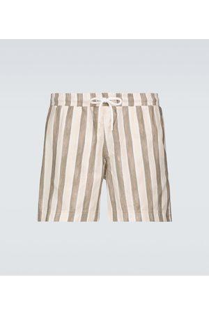 COMMAS Flag striped swim shorts