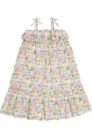 BONPOINT Tytöt Printtimekot - Samantha printed cotton dress