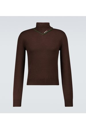 Bottega Veneta Military wool turtleneck