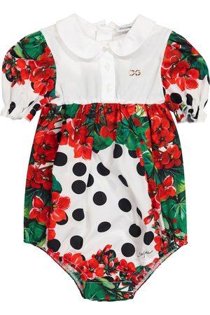 Dolce & Gabbana Baby floral cotton bodysuit