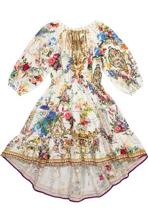 Camilla Embellished floral cotton dress