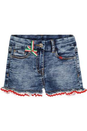 MONNALISA Tytöt Farkkushortsit - Embellished denim shorts