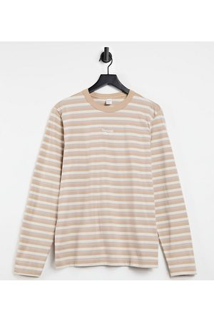 Reebok Classics Toast striped long sleeve t-shirt in stone exclusive to ASOS-Multi