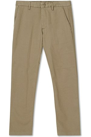 NN.07 Miehet Chinot - Theo Regular Fit Stretch Chinos Green Stone