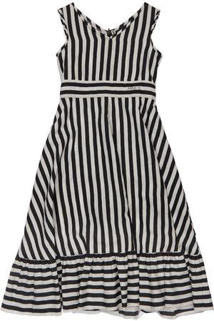 MONNALISA Tytöt Printtimekot - Stripes Print Viscose Dress