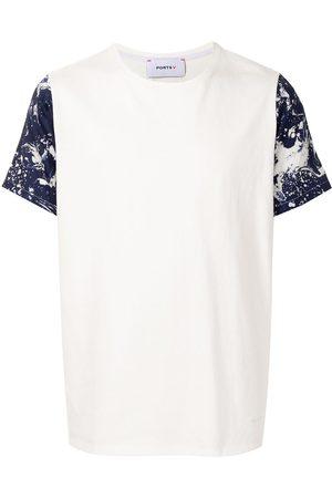 Ports V T-paidat - Paint-splatter short-sleeved T-shirt