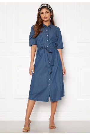 Happy Holly Emma midi puff denim dress Medium denim 52/54