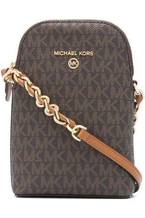 Michael Kors Naiset Olkalaukut - Small logo-print crossbody bag