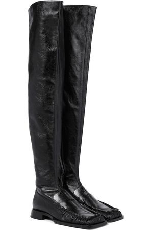 Jil Sander Leather over-the-knee boots