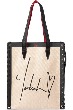 Christian Louboutin Cabalace Small leather-trimmed tote