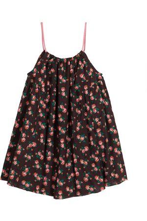 Caramel Cone Fish floral cotton dress