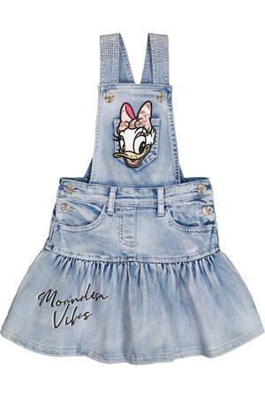 MONNALISA X Disney® embellished denim dress