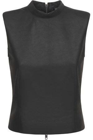 ANN DEMEULEMEESTER Naiset Hihattomat - Angelina Sleeveless Leather Top