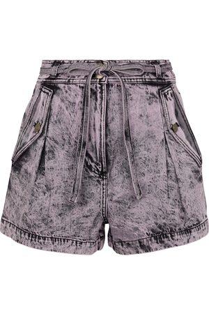 ULLA JOHNSON Alec high-rise denim shorts