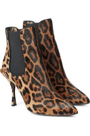 Dolce & Gabbana Leopard-print calf hair ankle boots