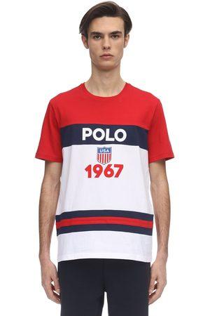 Polo Ralph Lauren Logo Color Block Cotton Jersey T-shirt