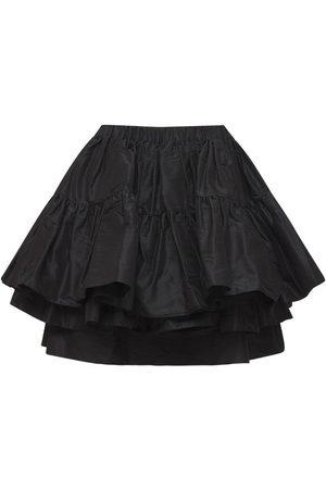 Miu Miu Ruffled Silk Taffeta Mini Skirt