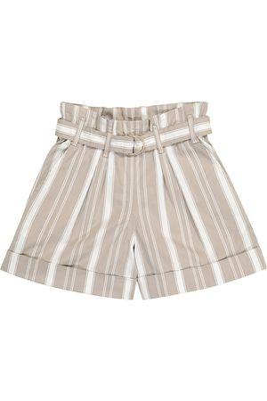 Brunello Cucinelli Striped cotton-blend shorts