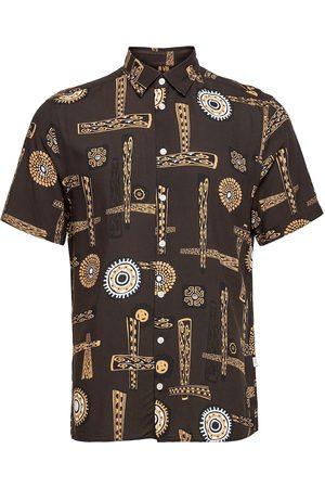 Casual Friday Anton Etnic Shirt Lyhythihainen Paita Ruskea