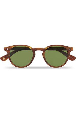 GARRETT LEIGHT Clement Sunglasses Matte Honey/Pure Green