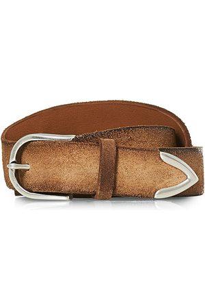 Orciani Handmade Suede Belt 3 cm Sabbia