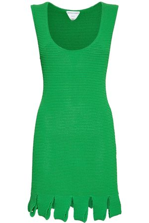 Bottega Veneta Naiset Neulemekot - Knit Mesh Sleeveless Mini Dress