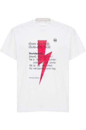 Neil Barrett Thunderbolt Print Cotton Jersey T-shirt