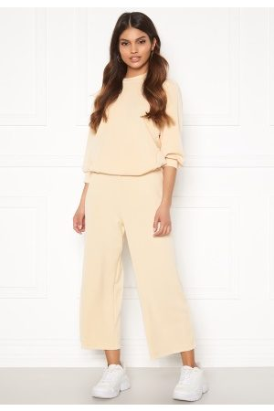 Selected Naiset Leveälahkeiset - Tenny MW Cropped Wide Pant Birch L