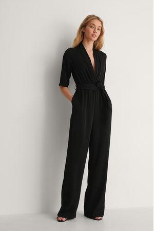 NA-KD Kimono-Jumpsuit - Black