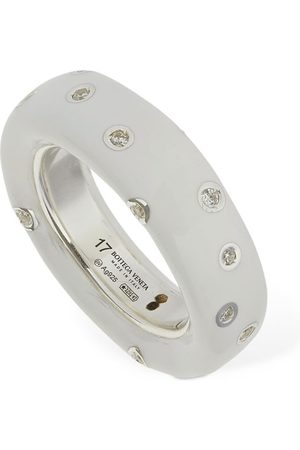 Bottega Veneta Band Crystal Ring