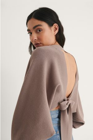 NA-KD Knot Detail Knitted Bolero - Brown